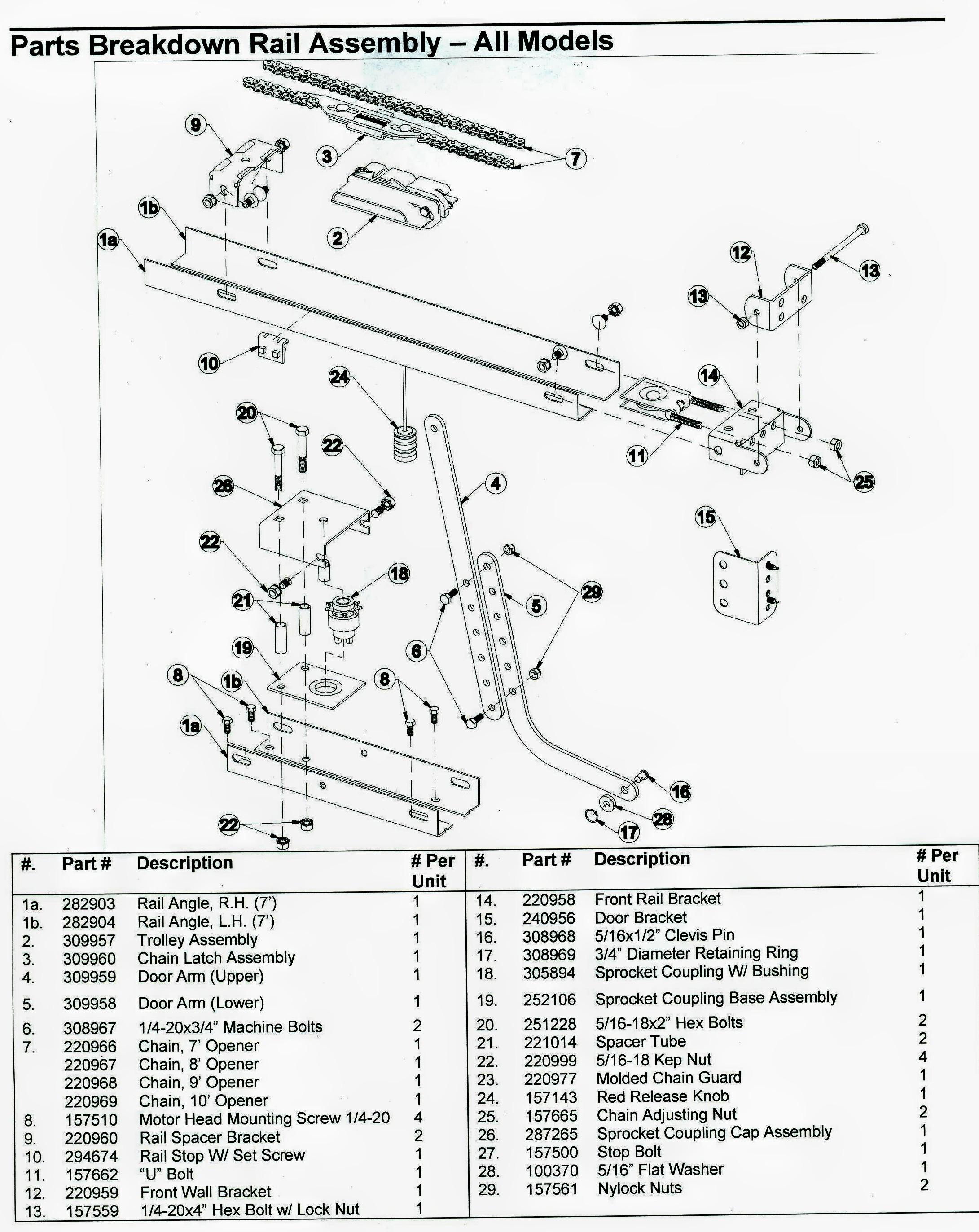 Garage Door Chain Parts Garage Door Parts Breakdown
